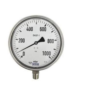 0-1000 KG 100MM WIKA PRESSURE GAUGE BOTTOM MOUNTING 232.50