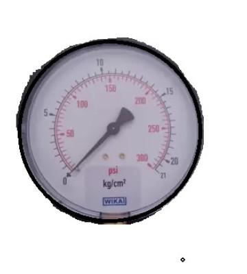 0-21 KG 100MM WIKA PRESSURE GAUGE BOTTOM MOUNTING 232.50
