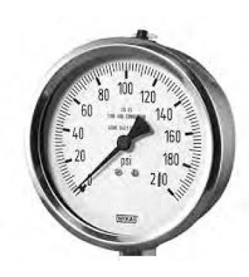 0-210 KG 160MM WIKA PRESSURE GAUGE BACK MOUNTING 232.50
