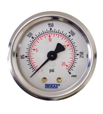 0-280 KG WIKA PRESSURE GAUGE BACK MOUNTING 213.53