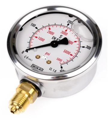 0-400 KG 100MM WIKA PRESSURE GAUGE BOTTOM MOUNTING 232.50