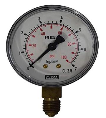 0-7 KG 160MM WIKA PRESSURE GAUGE BACK MOUNTING 232.50