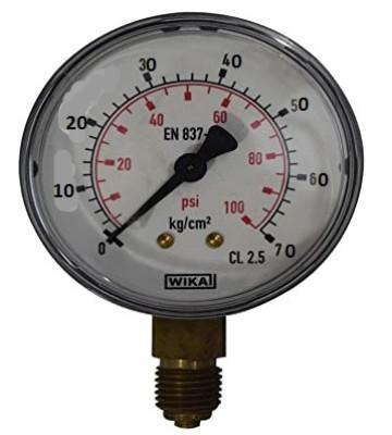 0-70 KG 160MM WIKA PRESSURE GAUGE BACK MOUNTING 232.50